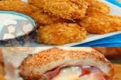 طريقة الكوردون بلو الشهي و كور الدجاج المقلية