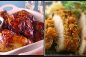 شرائح الدجاج بالبقسماط ودجاج بالمشروم والبابريكا من المطبخ الايطالى