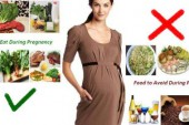 الاطعمة المضرة و غير مضرة بالمراة الحامل