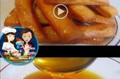 بالفيديو حلويات صبيعات معسلة وكيفية صنع العسل في البيت للحلويات