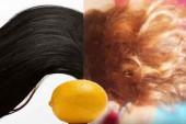 طريقة تفتيح الشعر الأسود طبيعياً في وقت قصير بإستعمال الليمون فقط